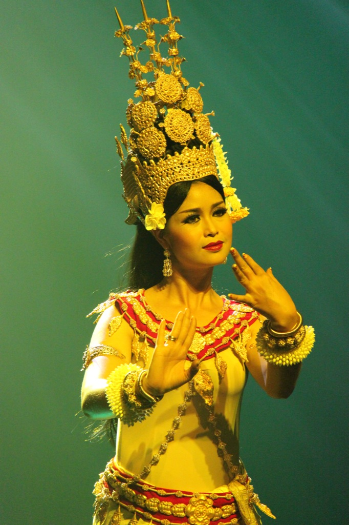 Apsara dancers represent female divinities